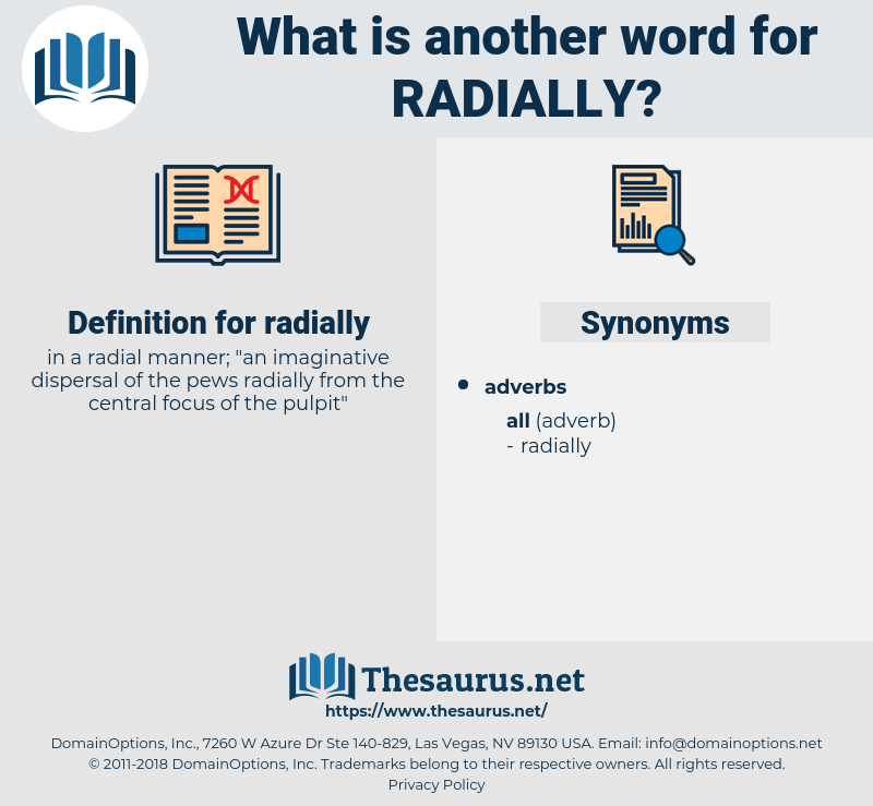 radially, synonym radially, another word for radially, words like radially, thesaurus radially