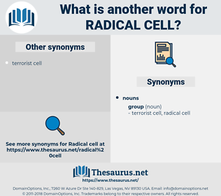 radical cell, synonym radical cell, another word for radical cell, words like radical cell, thesaurus radical cell