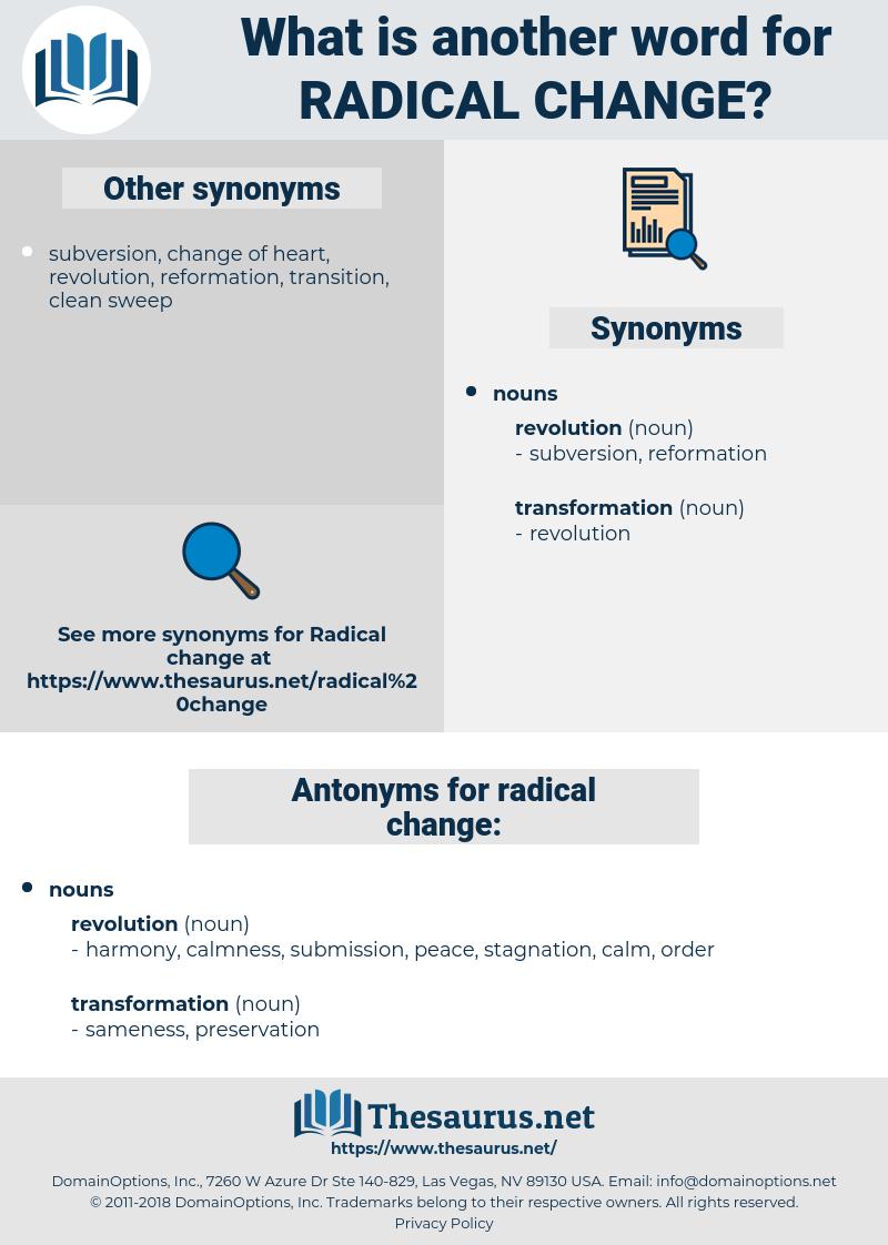 radical change, synonym radical change, another word for radical change, words like radical change, thesaurus radical change