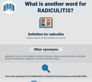 radiculitis, synonym radiculitis, another word for radiculitis, words like radiculitis, thesaurus radiculitis