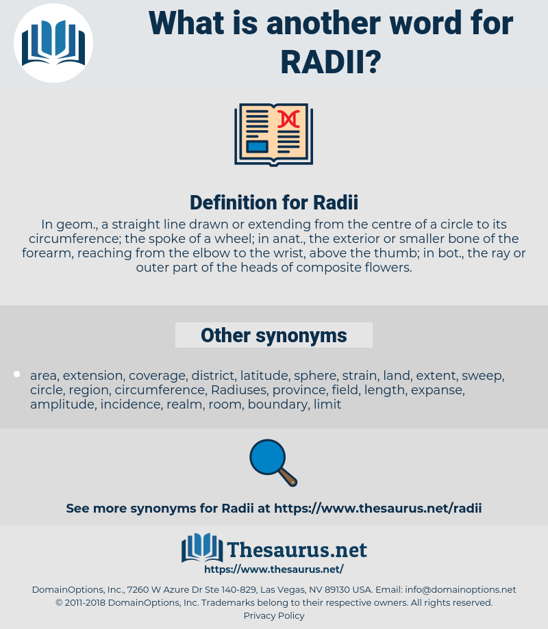 Radii, synonym Radii, another word for Radii, words like Radii, thesaurus Radii