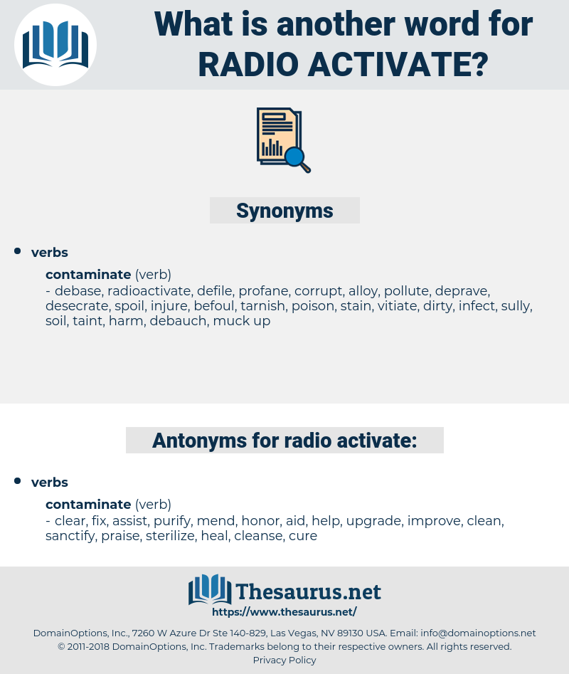 radio-activate, synonym radio-activate, another word for radio-activate, words like radio-activate, thesaurus radio-activate