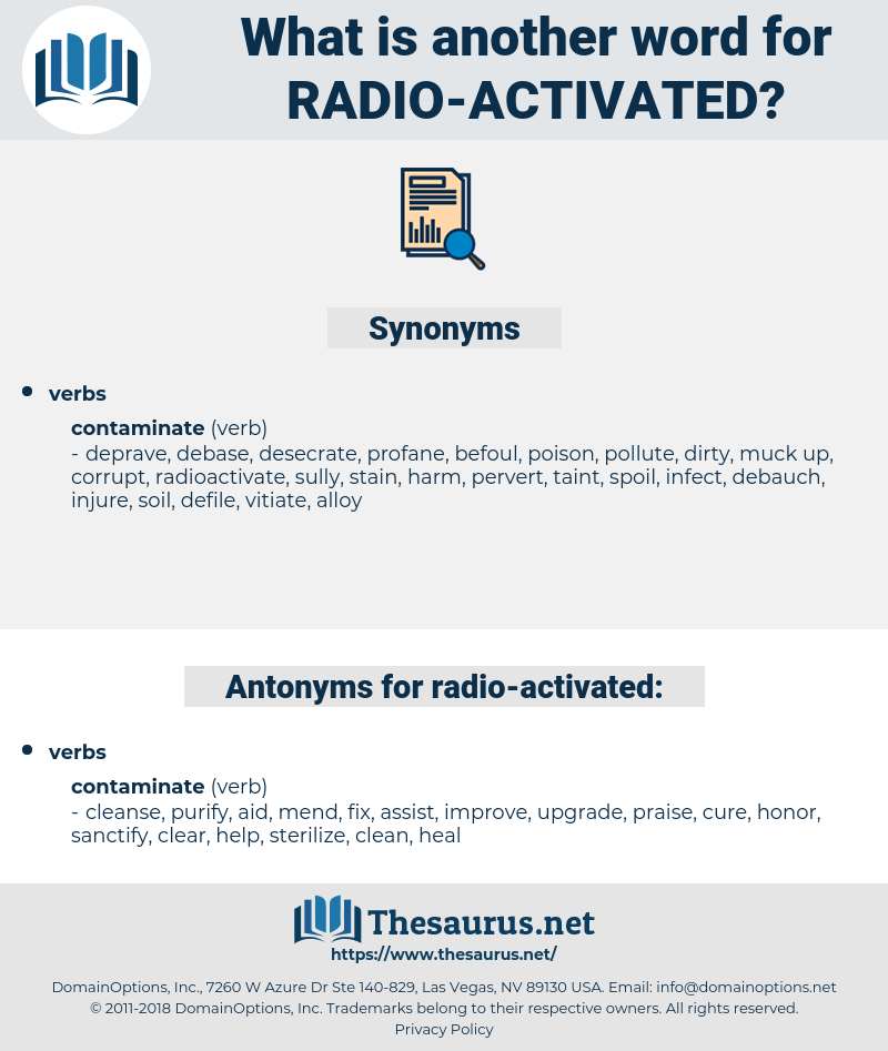 radio activated, synonym radio activated, another word for radio activated, words like radio activated, thesaurus radio activated