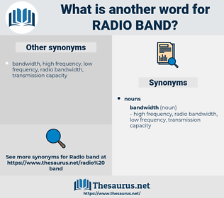 radio band, synonym radio band, another word for radio band, words like radio band, thesaurus radio band