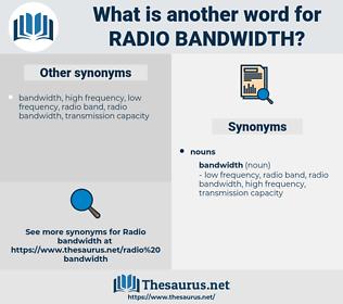 radio bandwidth, synonym radio bandwidth, another word for radio bandwidth, words like radio bandwidth, thesaurus radio bandwidth