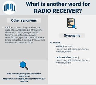 radio receiver, synonym radio receiver, another word for radio receiver, words like radio receiver, thesaurus radio receiver