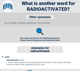 radioactivated, synonym radioactivated, another word for radioactivated, words like radioactivated, thesaurus radioactivated