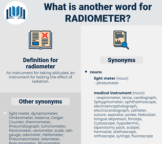 radiometer, synonym radiometer, another word for radiometer, words like radiometer, thesaurus radiometer