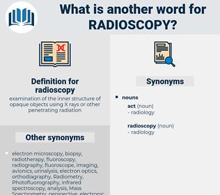 radioscopy, synonym radioscopy, another word for radioscopy, words like radioscopy, thesaurus radioscopy