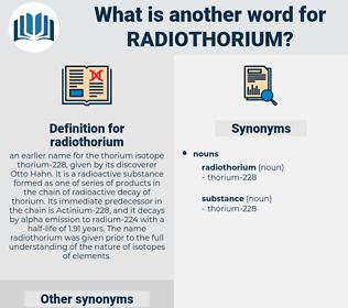 radiothorium, synonym radiothorium, another word for radiothorium, words like radiothorium, thesaurus radiothorium