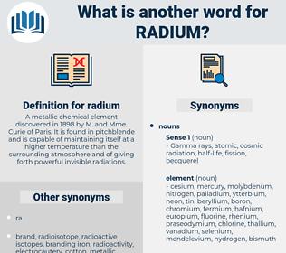 radium, synonym radium, another word for radium, words like radium, thesaurus radium