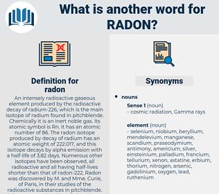 radon, synonym radon, another word for radon, words like radon, thesaurus radon