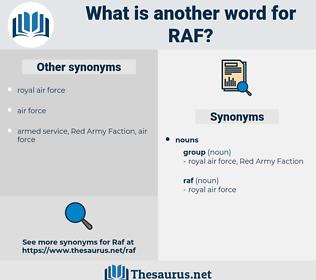 raf, synonym raf, another word for raf, words like raf, thesaurus raf