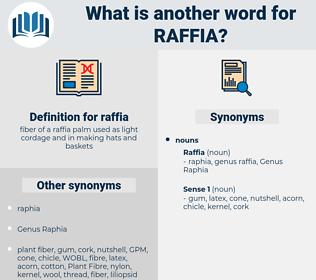raffia, synonym raffia, another word for raffia, words like raffia, thesaurus raffia