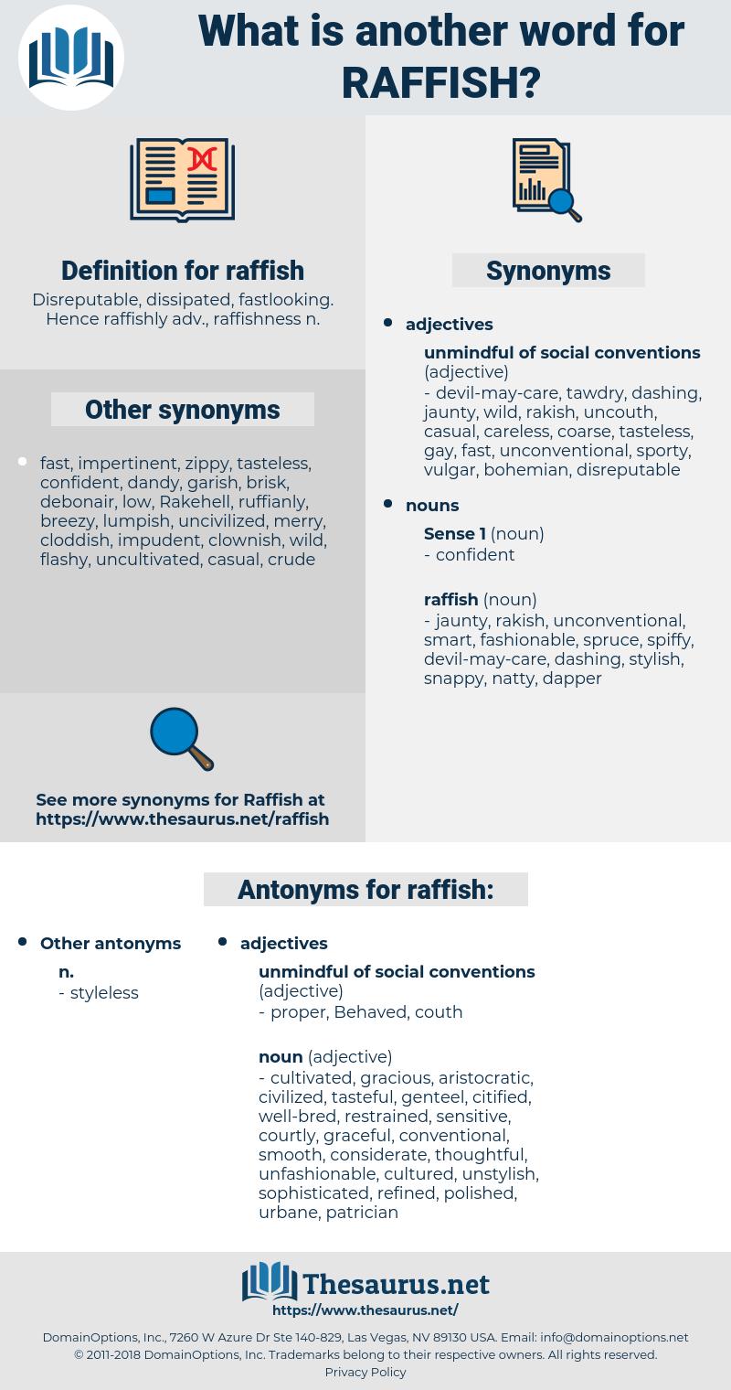 raffish, synonym raffish, another word for raffish, words like raffish, thesaurus raffish