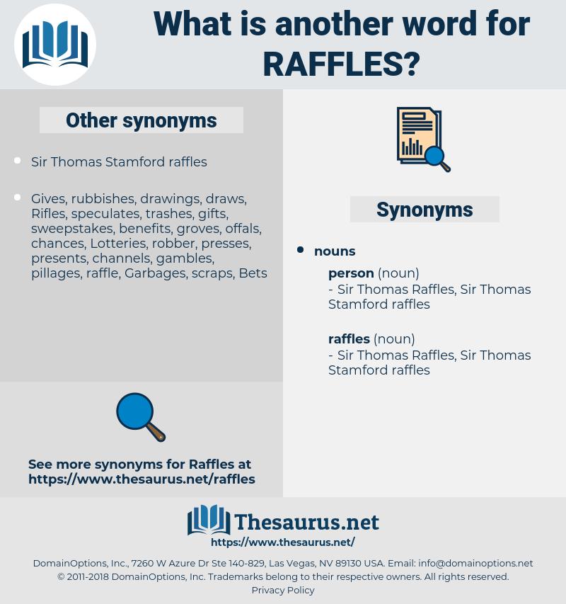 raffles, synonym raffles, another word for raffles, words like raffles, thesaurus raffles