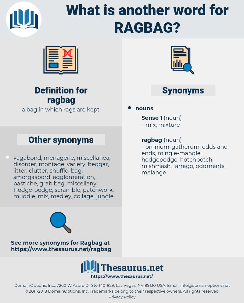 ragbag, synonym ragbag, another word for ragbag, words like ragbag, thesaurus ragbag