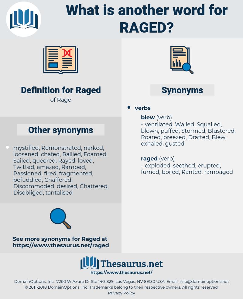 Raged, synonym Raged, another word for Raged, words like Raged, thesaurus Raged