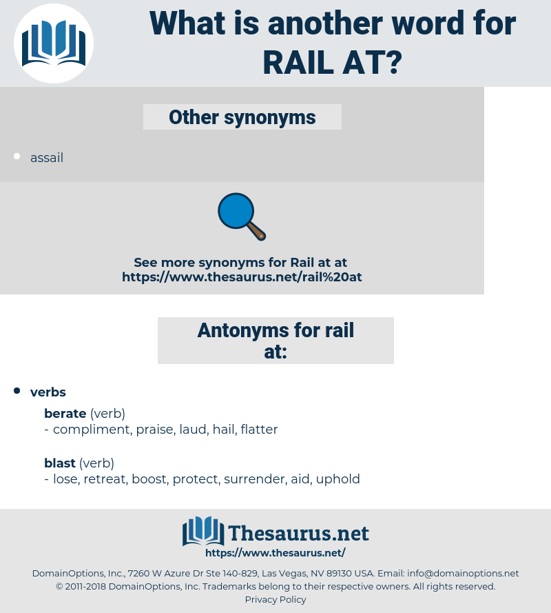 rail at, synonym rail at, another word for rail at, words like rail at, thesaurus rail at