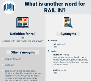 rail in, synonym rail in, another word for rail in, words like rail in, thesaurus rail in