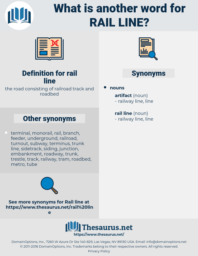 rail line, synonym rail line, another word for rail line, words like rail line, thesaurus rail line