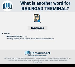 railroad terminal, synonym railroad terminal, another word for railroad terminal, words like railroad terminal, thesaurus railroad terminal