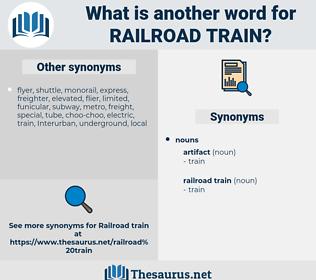 railroad train, synonym railroad train, another word for railroad train, words like railroad train, thesaurus railroad train