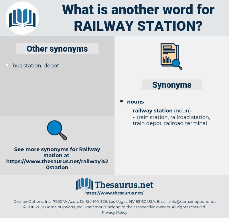 railway station, synonym railway station, another word for railway station, words like railway station, thesaurus railway station
