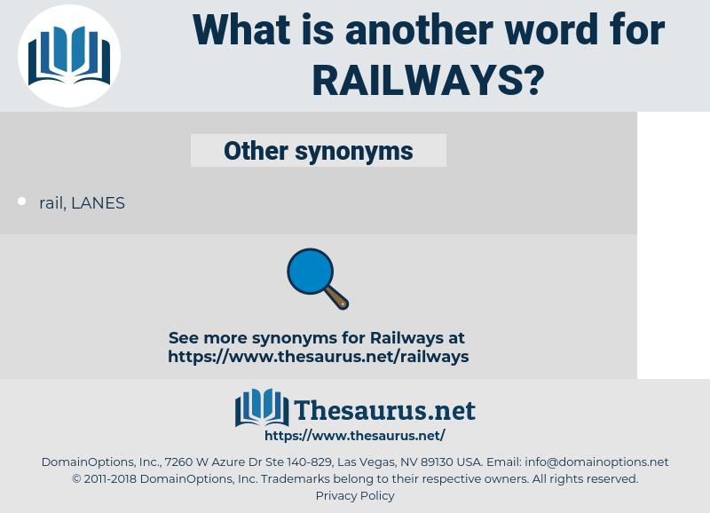 railways, synonym railways, another word for railways, words like railways, thesaurus railways