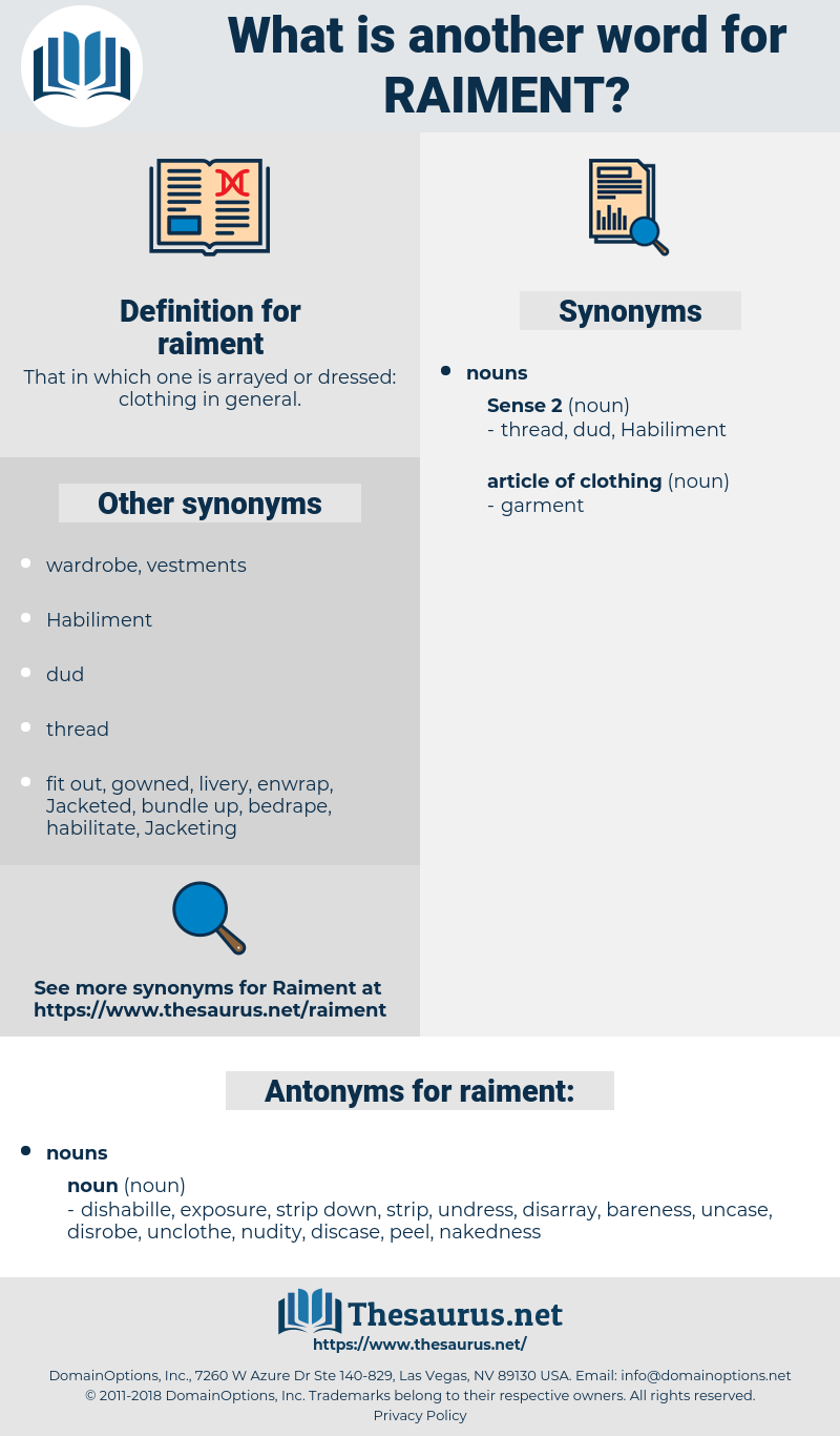 raiment, synonym raiment, another word for raiment, words like raiment, thesaurus raiment