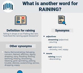 raining, synonym raining, another word for raining, words like raining, thesaurus raining
