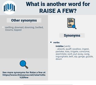 raise a few, synonym raise a few, another word for raise a few, words like raise a few, thesaurus raise a few