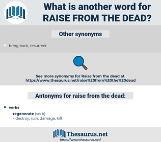 raise from the dead, synonym raise from the dead, another word for raise from the dead, words like raise from the dead, thesaurus raise from the dead