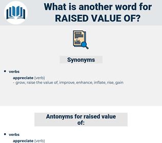 raised value of, synonym raised value of, another word for raised value of, words like raised value of, thesaurus raised value of