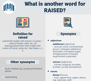 raised, synonym raised, another word for raised, words like raised, thesaurus raised