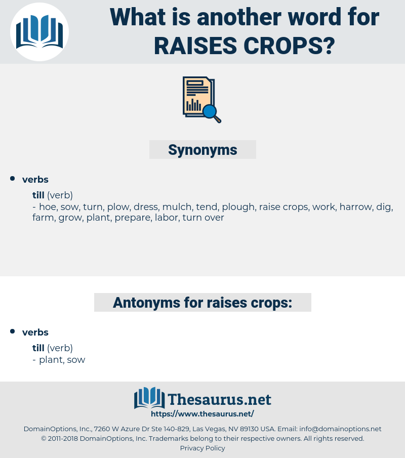 raises crops, synonym raises crops, another word for raises crops, words like raises crops, thesaurus raises crops