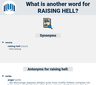 raising hell, synonym raising hell, another word for raising hell, words like raising hell, thesaurus raising hell