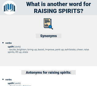 raising spirits, synonym raising spirits, another word for raising spirits, words like raising spirits, thesaurus raising spirits