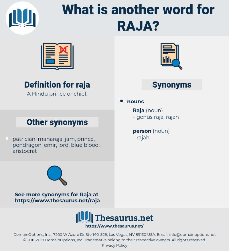 raja, synonym raja, another word for raja, words like raja, thesaurus raja