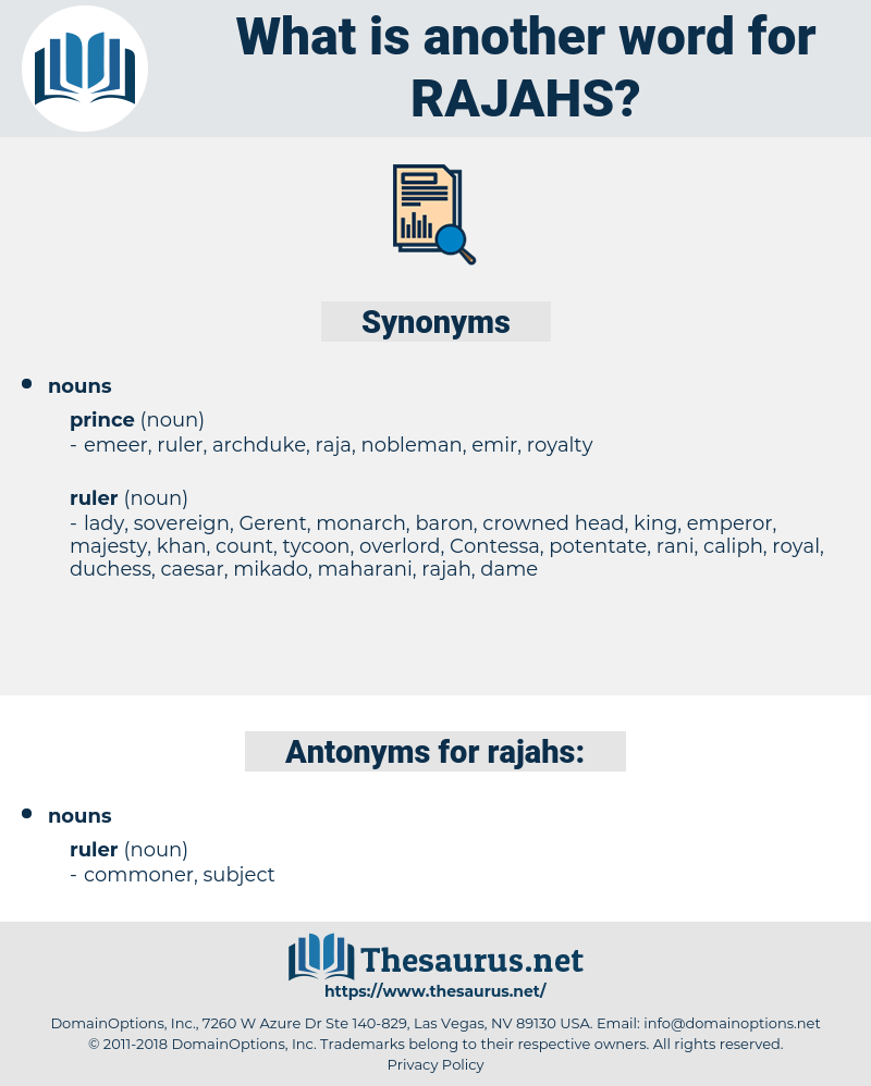 rajahs, synonym rajahs, another word for rajahs, words like rajahs, thesaurus rajahs