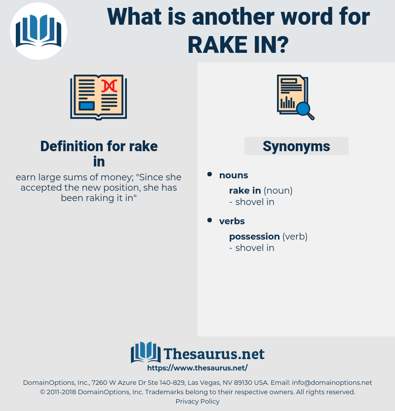 rake in, synonym rake in, another word for rake in, words like rake in, thesaurus rake in