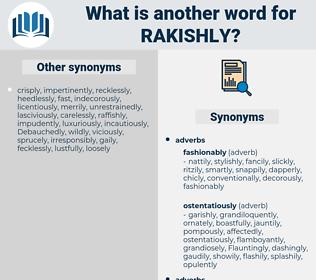 rakishly, synonym rakishly, another word for rakishly, words like rakishly, thesaurus rakishly