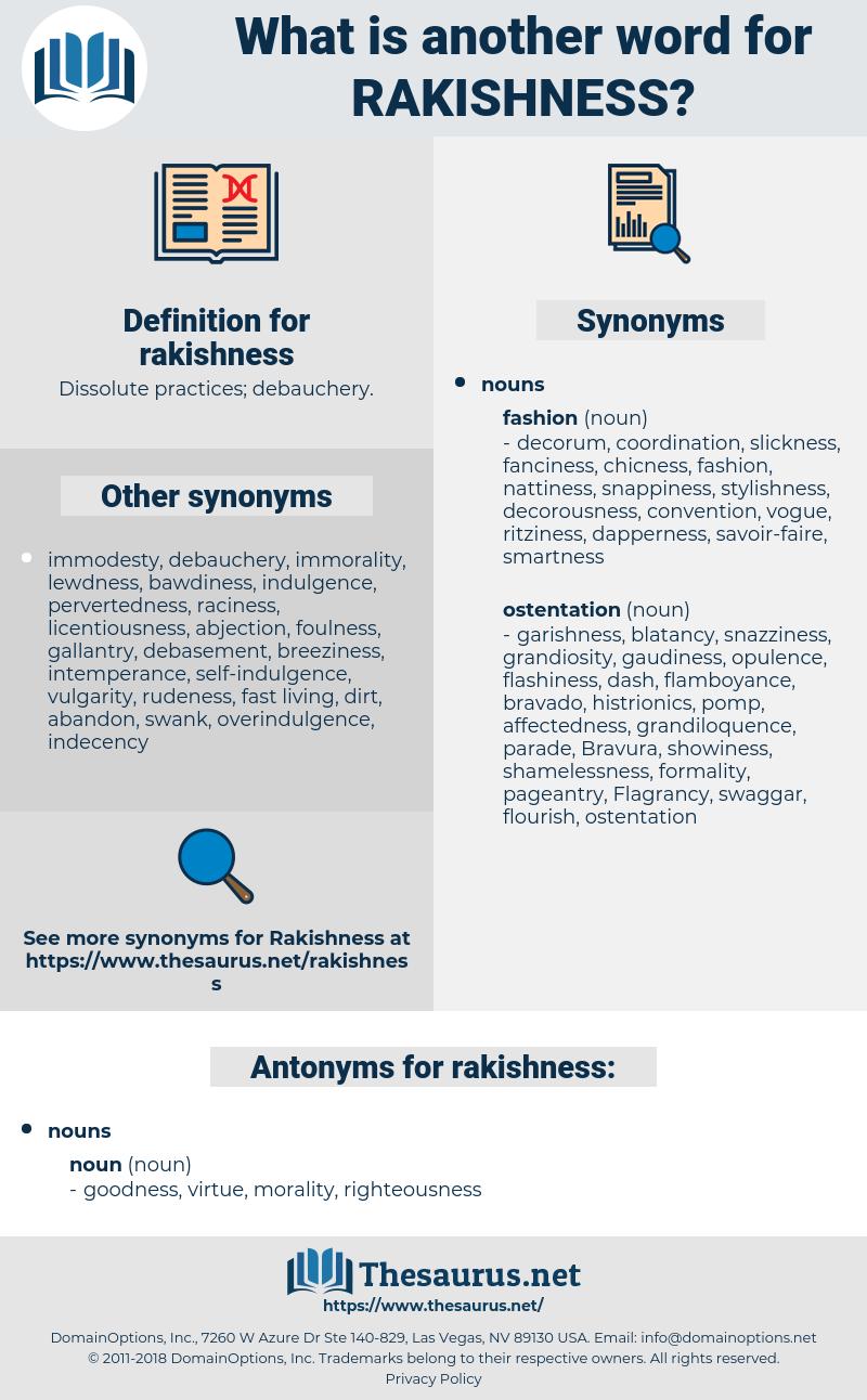 rakishness, synonym rakishness, another word for rakishness, words like rakishness, thesaurus rakishness
