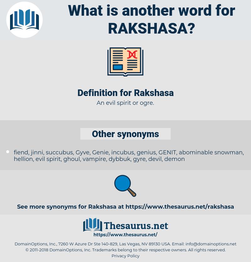 Rakshasa, synonym Rakshasa, another word for Rakshasa, words like Rakshasa, thesaurus Rakshasa