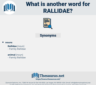rallidae, synonym rallidae, another word for rallidae, words like rallidae, thesaurus rallidae