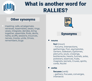 Rallies, synonym Rallies, another word for Rallies, words like Rallies, thesaurus Rallies