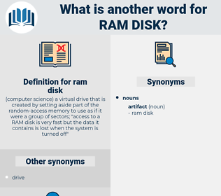 ram disk, synonym ram disk, another word for ram disk, words like ram disk, thesaurus ram disk