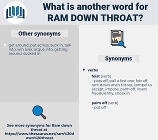 ram down throat, synonym ram down throat, another word for ram down throat, words like ram down throat, thesaurus ram down throat