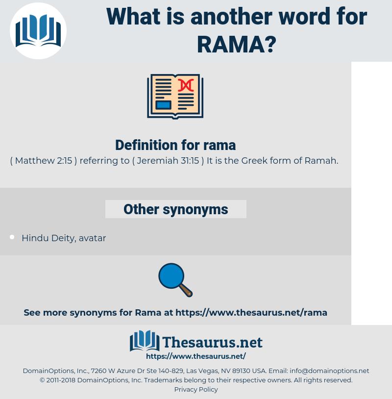 rama, synonym rama, another word for rama, words like rama, thesaurus rama