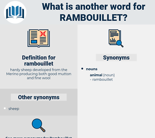 rambouillet, synonym rambouillet, another word for rambouillet, words like rambouillet, thesaurus rambouillet